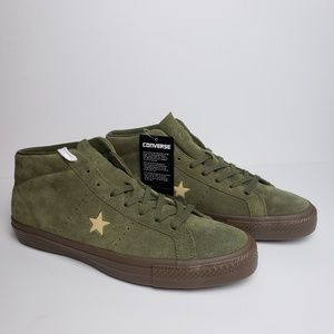 Converse Suede One Star Pro Mid Medium Olive